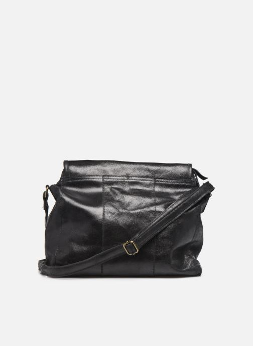 Handtassen Pieces Coco Leather Crossbody Zwart voorkant