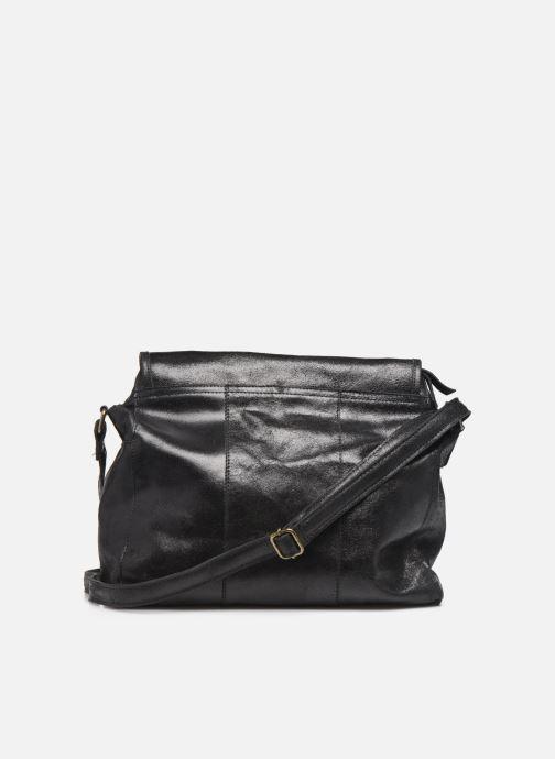 Handtaschen Pieces Coco Leather Crossbody schwarz ansicht von vorne