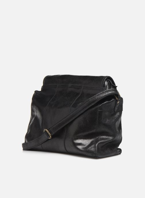 Handtassen Pieces Coco Leather Crossbody Zwart rechts
