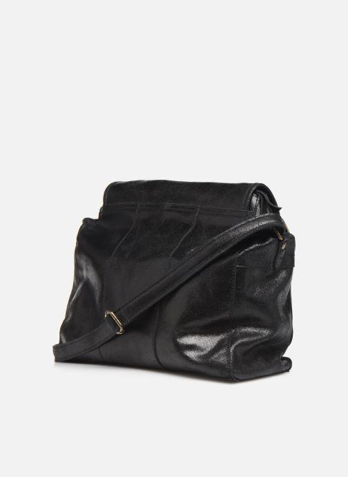 Handtaschen Pieces Coco Leather Crossbody schwarz ansicht von rechts