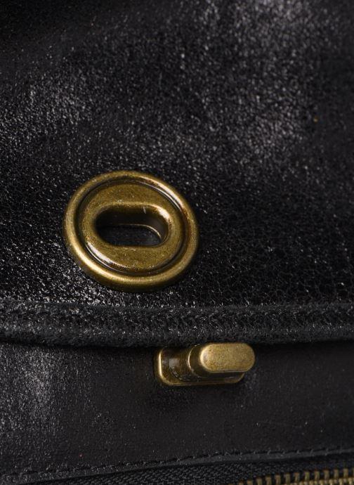 Handtaschen Pieces Coco Leather Crossbody schwarz ansicht von links