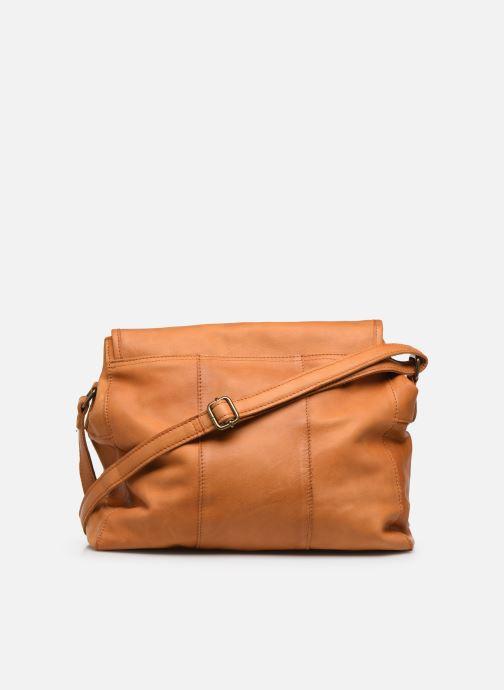 Handtassen Pieces Coco Leather Crossbody Geel voorkant