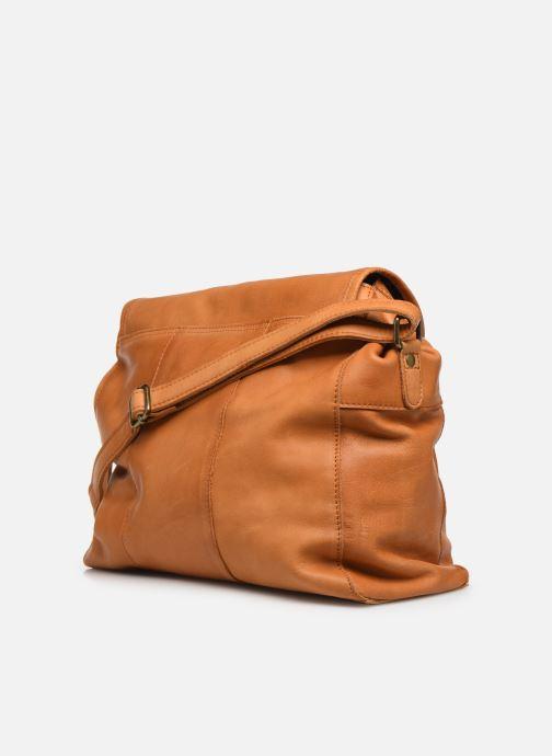 Handtassen Pieces Coco Leather Crossbody Geel rechts