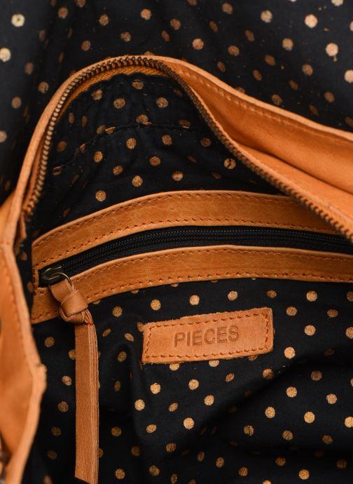Handtassen Pieces Coco Leather Crossbody Geel achterkant