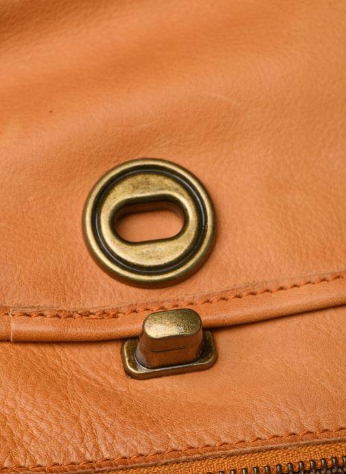 Handtassen Pieces Coco Leather Crossbody Geel links