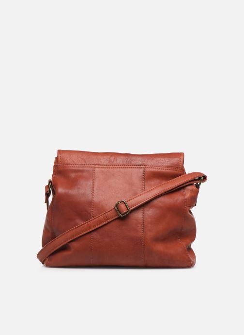 Handtassen Pieces Coco Leather Crossbody Rood voorkant