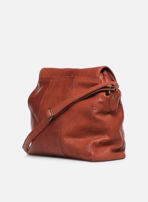 Handtassen Pieces Coco Leather Crossbody Rood rechts