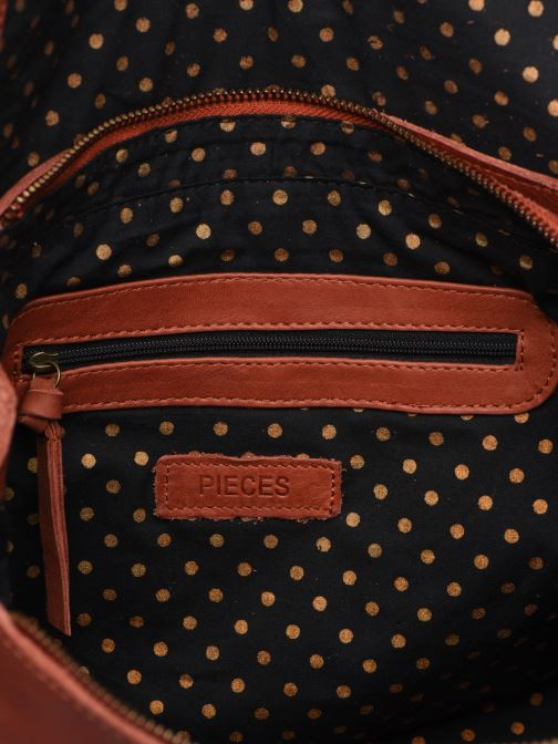 Handtassen Pieces Coco Leather Crossbody Rood achterkant
