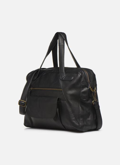Handtaschen Pieces Collina Leather Bag schwarz schuhe getragen