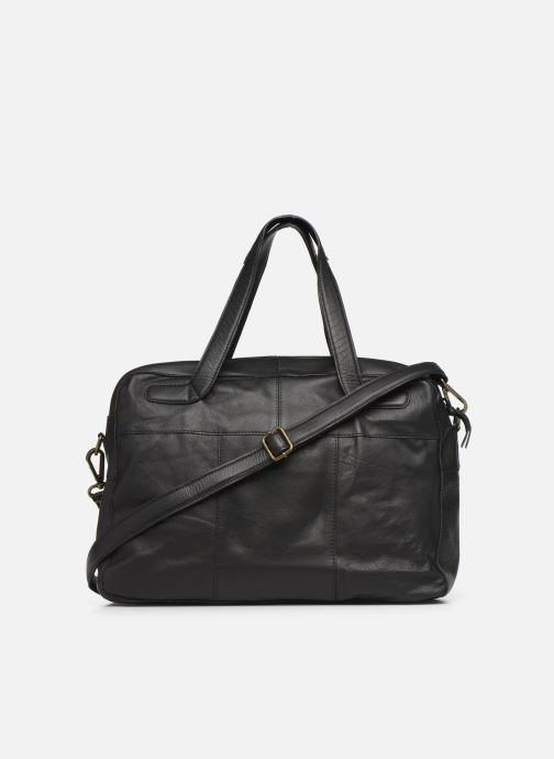 Handtaschen Pieces Collina Leather Bag schwarz ansicht von vorne