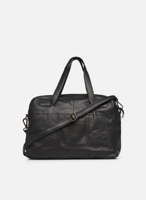 Håndtasker Pieces Collina Leather Bag Sort se forfra