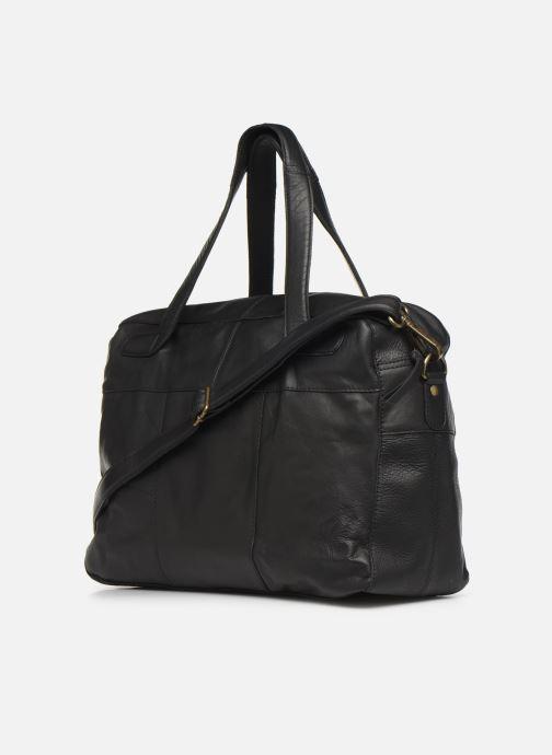 Handtaschen Pieces Collina Leather Bag schwarz ansicht von rechts