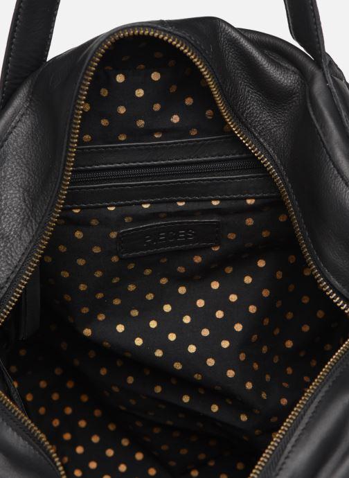 Håndtasker Pieces Collina Leather Bag Sort se bagfra