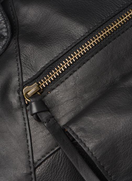 Handtaschen Pieces Collina Leather Bag schwarz ansicht von links