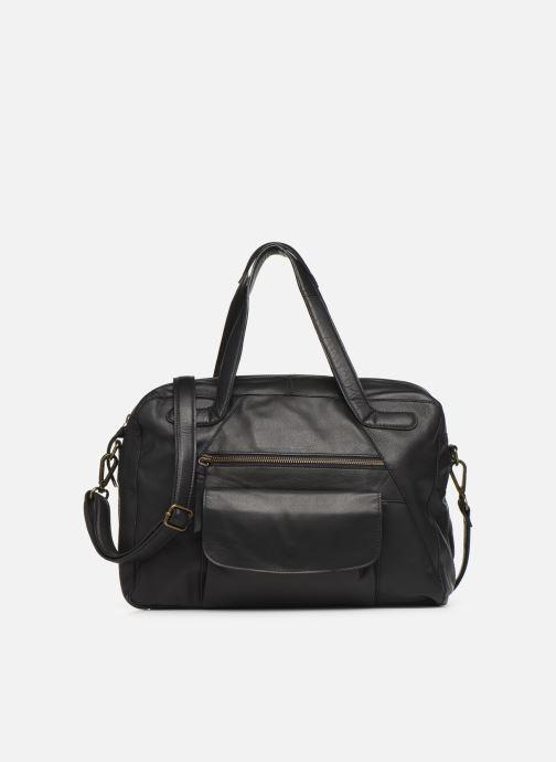 Håndtasker Pieces Collina Leather Bag Sort detaljeret billede af skoene