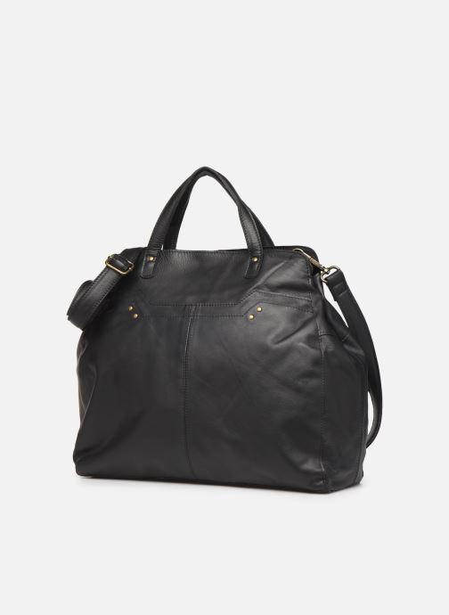 Bolsos de mano Pieces Cora Leather Daily Bag Negro vista del modelo