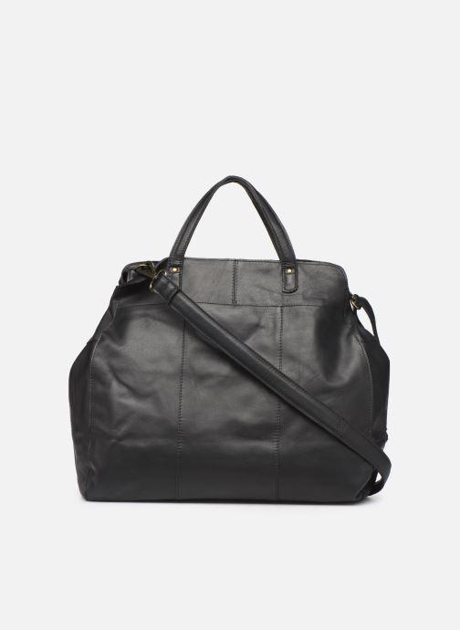Bolsos de mano Pieces Cora Leather Daily Bag Negro vista de frente