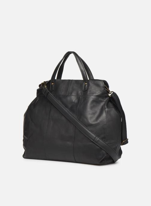 Bolsos de mano Pieces Cora Leather Daily Bag Negro vista lateral derecha