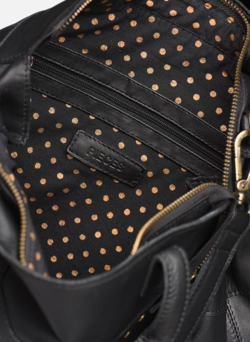 Håndtasker Pieces Cora Leather Daily Bag Sort se bagfra