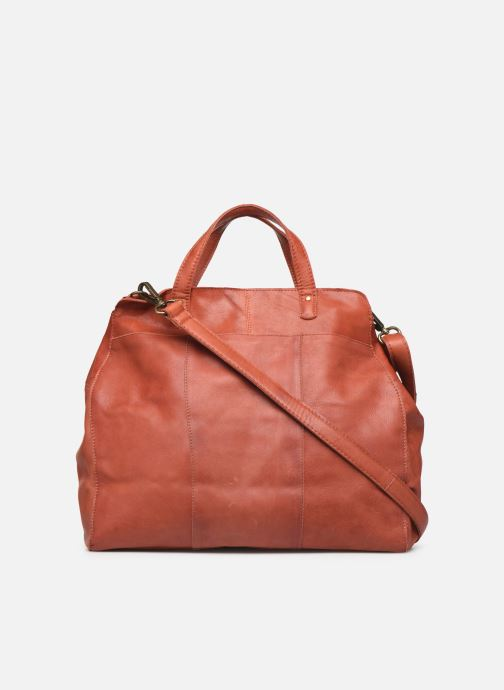 Bolsos de mano Pieces Cora Leather Daily Bag Rojo vista de frente
