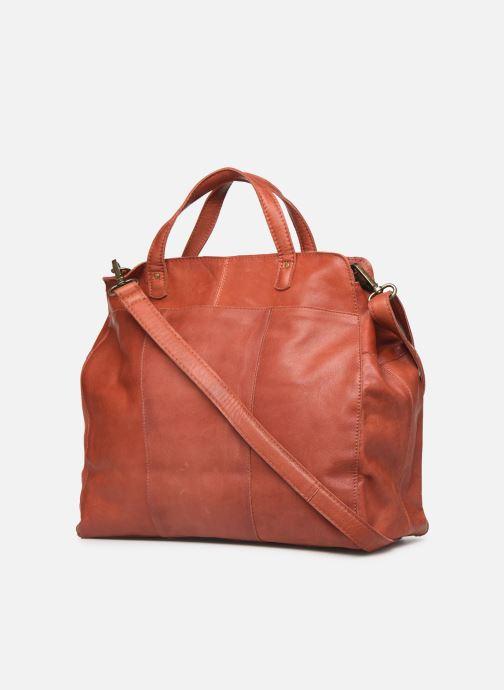 Handtassen Pieces Cora Leather Daily Bag Rood rechts