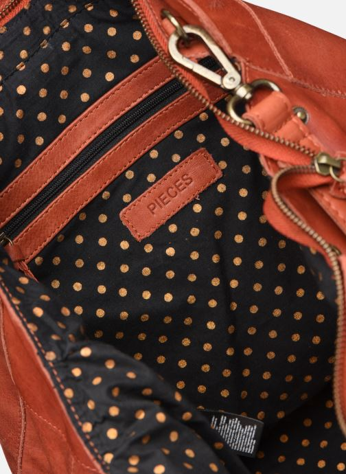 Handtassen Pieces Cora Leather Daily Bag Rood achterkant