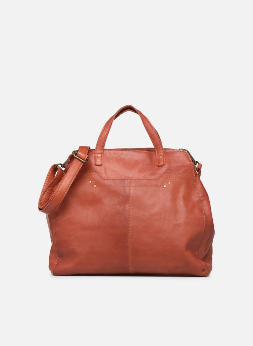 Handtassen Pieces Cora Leather Daily Bag Rood detail