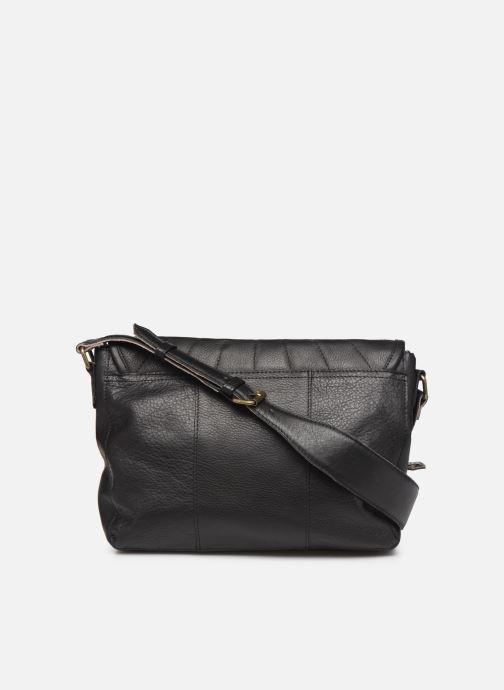 Handtassen Pieces Conner Leather Crossbody Zwart voorkant