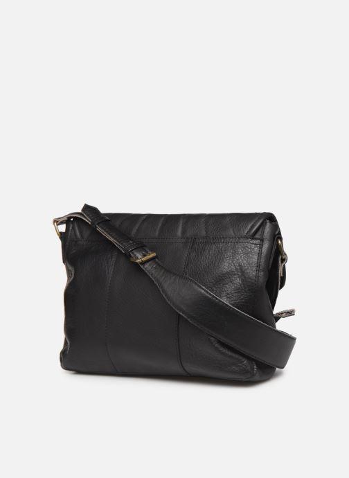 Bolsos de mano Pieces Conner Leather Crossbody Negro vista lateral derecha