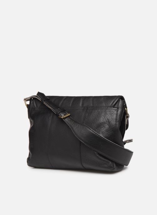 Sacs à main Pieces Conner Leather Crossbody Noir vue droite
