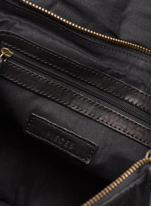 Handtassen Pieces Conner Leather Crossbody Zwart achterkant
