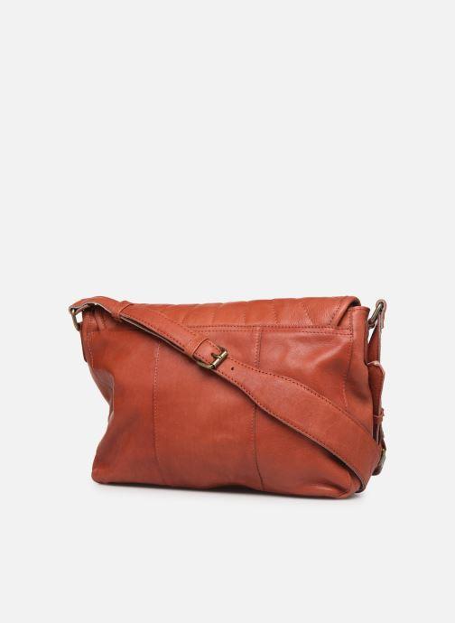 Sacs à main Pieces Conner Leather Crossbody Orange vue droite