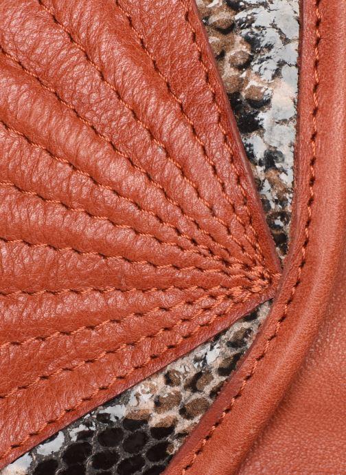Sacs à main Pieces Conner Leather Crossbody Orange vue gauche