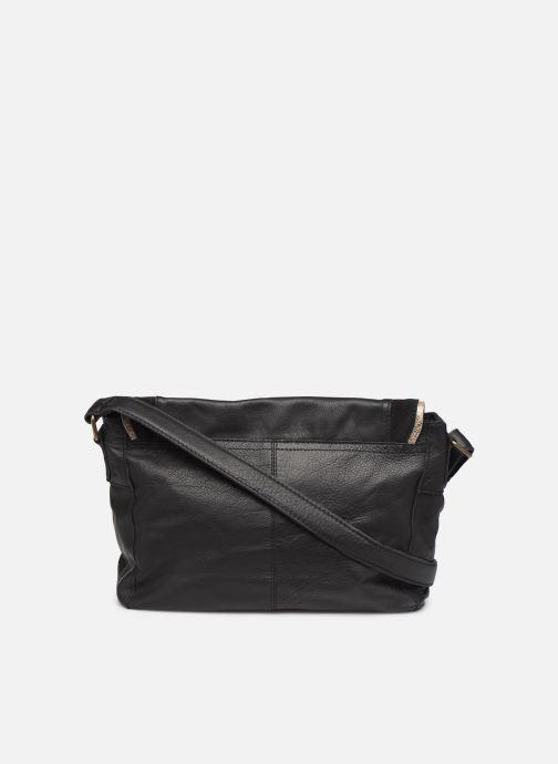 Sacs à main Pieces Cornelia Leather Crossbody Noir vue face