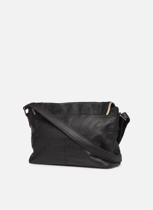 Sacs à main Pieces Cornelia Leather Crossbody Noir vue droite