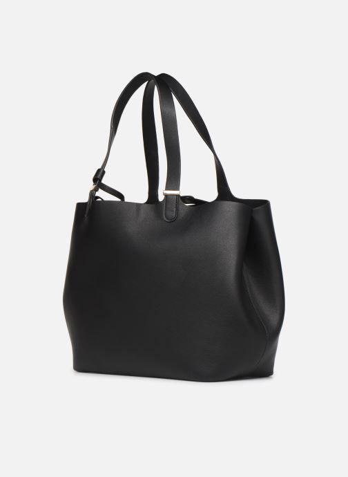 Sacs à main Pieces Kopa Shopper Noir vue portées chaussures