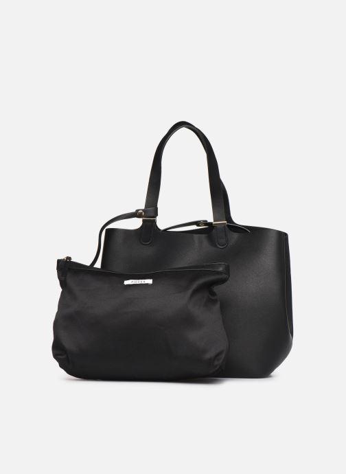 Handtassen Pieces Kopa Shopper Zwart links