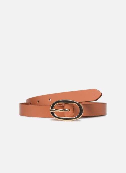 Riemen Pieces ANA LEATHER JEANS BELT 2 cm Bruin detail