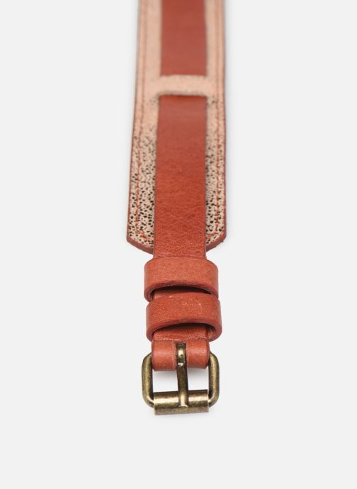 Ceintures Pieces HAILEY LEATHER JEANS BELT 3 cm Orange vue portées chaussures