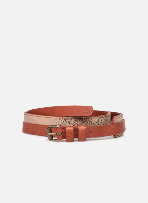 Ceintures Pieces HAILEY LEATHER JEANS BELT 3 cm Orange vue détail/paire