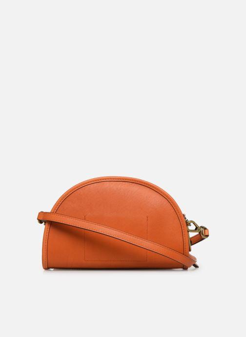 Handbags Polo Ralph Lauren HALF MOON Orange front view