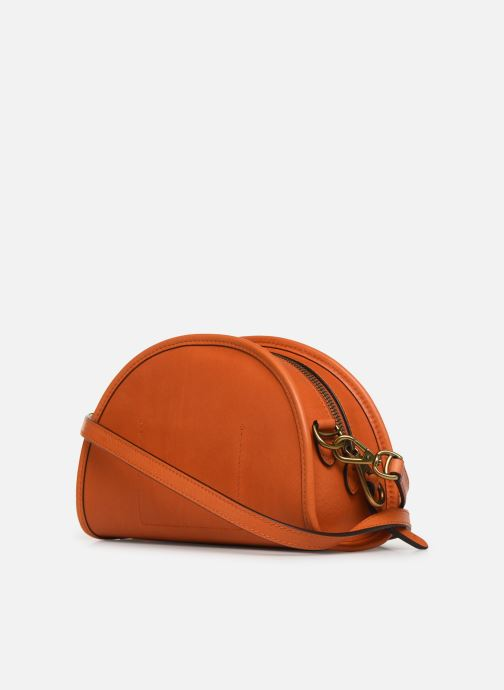Handbags Polo Ralph Lauren HALF MOON Orange view from the right