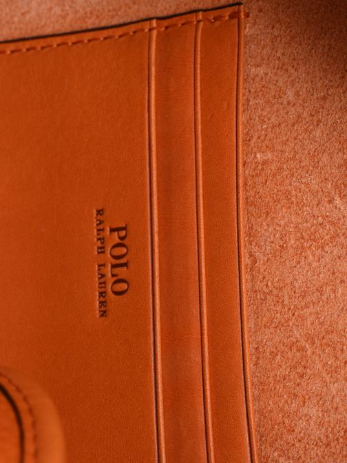 Handbags Polo Ralph Lauren HALF MOON Orange back view