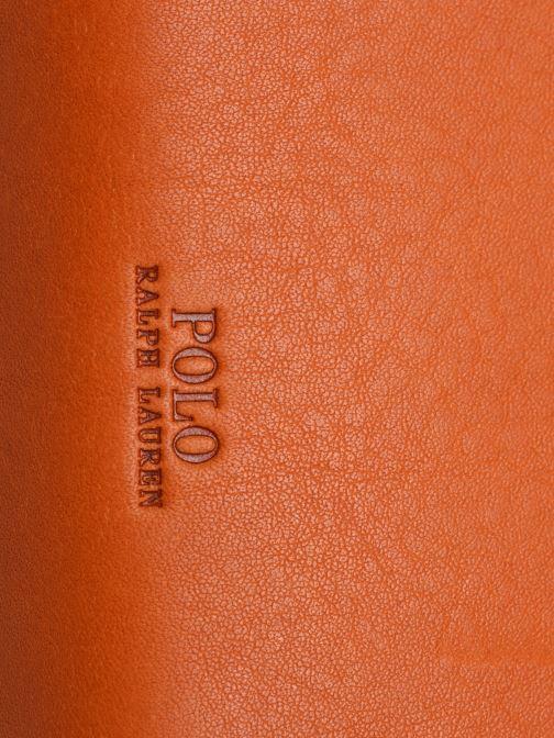 Handbags Polo Ralph Lauren HALF MOON Orange view from the left