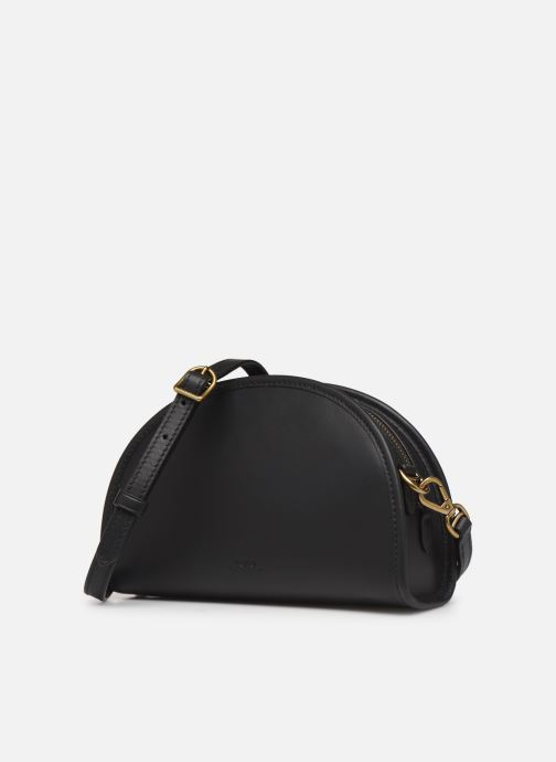 Sacs à main Polo Ralph Lauren HALF MOON Noir vue portées chaussures