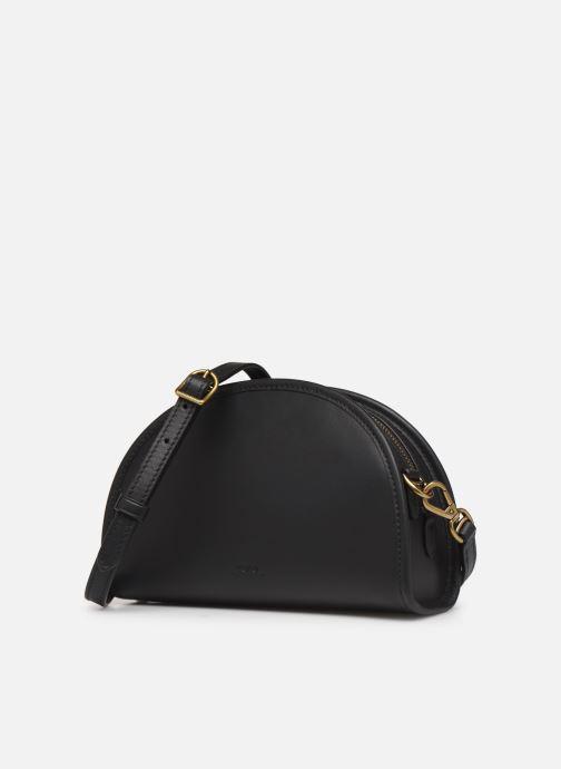 Handbags Polo Ralph Lauren HALF MOON Black model view
