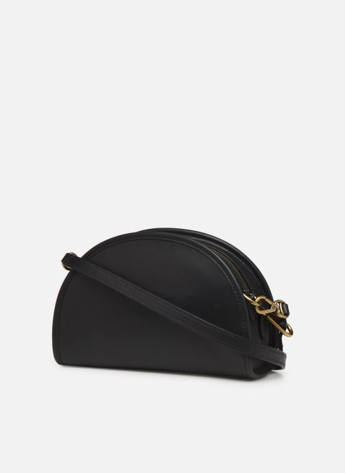 Handbags Polo Ralph Lauren HALF MOON Black view from the right