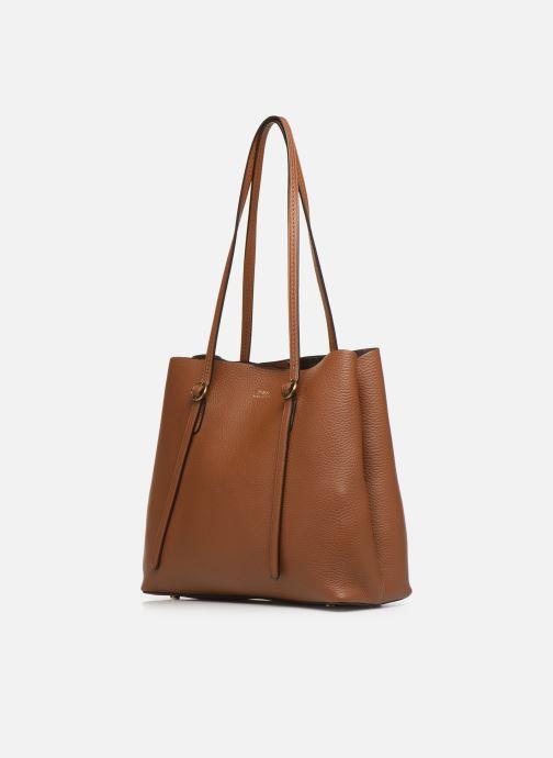 Handtaschen Polo Ralph Lauren SMALL LENNOX TOTE braun schuhe getragen