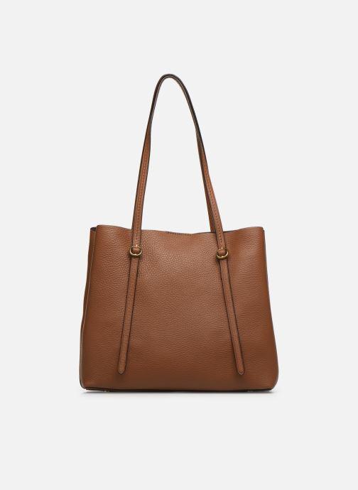 Handtaschen Polo Ralph Lauren SMALL LENNOX TOTE braun ansicht von vorne