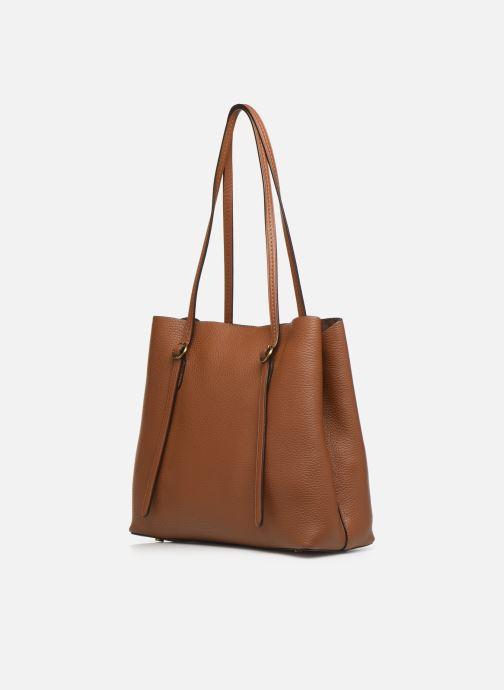 Handtaschen Polo Ralph Lauren SMALL LENNOX TOTE braun ansicht von rechts